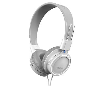 Qilive Auriculares tipo casco Q.1233 con cable, blanco con cable, blanco