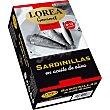 Gourmet sardinillas en aceite de oliva 8-10 piezas  lata 88 g neto escurrido Lorea