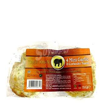 Tiger Khan Pan 4 mini garlic & coriander naans 235 GRS
