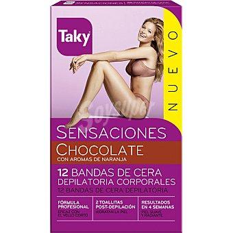 TAKY Sensaciones Bandas de cera corporales caja 12 Unidades