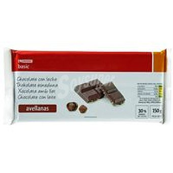 Eroski Chocolate con leche-avellana Tableta 150 g