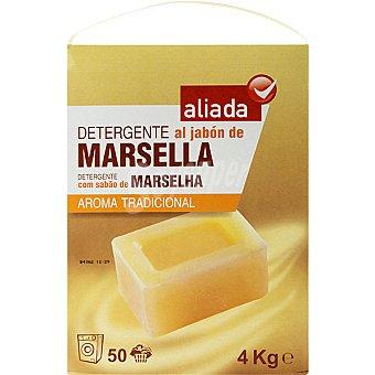 Aliada Detergente máquina polvo al jabón de Marsella Maleta 50 cacitos