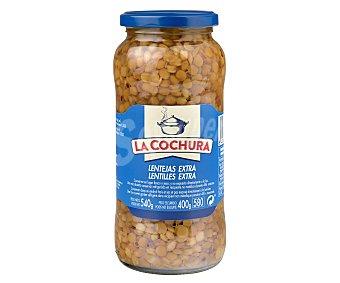 LA COCHURA Lenteja cocida sin sal Tarro de 400 g