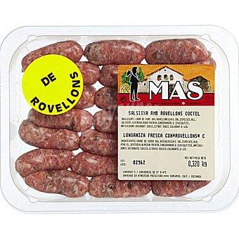 E.MAS Salchicha fresca coctel con rovellons peso aproximado Bandeja 300 g