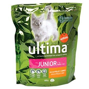 Ultima Affinity Alimento para gatos junior Bolsa 800 gr