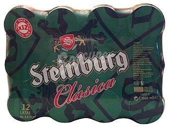 Steinburg Cerveza rubia Lata pack 12 x 330 cc - 3960 cc