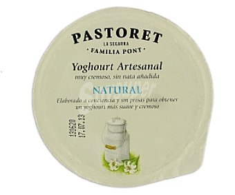 El pastoret Crema de yogur natural 125 Gramos