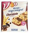 Barrita cereales arroz y trigo integral chocolate leche linea v Caja 6 ud (120 g) Hacendado