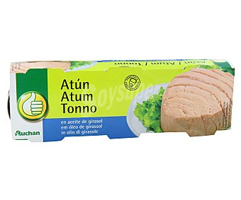 Productos Económicos Alcampo Atún en aceite de girasol Lata de 52 g. pack de 3