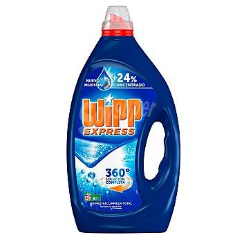 Wipp Express Detergente máquina líquido gel azul Botella 45 dosis