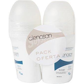 Clenosan Desodorante en roll-on hipoalergénico sin alcohol ml Pack 75+75