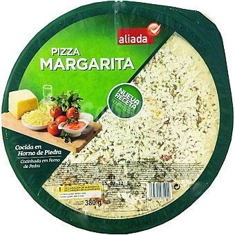 Aliada Pizza margarita cocida en horno de piedra Envase 380 g