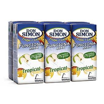 Don Simón Frutas + Leche Funciona Max Tropical Pack 6 envase 20 cl