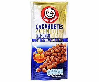 Matutano Cacahuetes tostados al horno sazonados con sal y miel 70 gramos