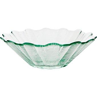 QUID Bol de vidrio con forma de girasol 16,5 cm