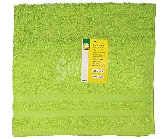 Productos Económicos Alcampo Toalla de baño color verde, 100x130 centímetros. Toallas 100% algodón y densidad de 360 gramos/m² 1 unidad
