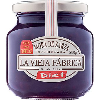 LA VIEJA FABRICA DIET Mermelada de mora de zarza sin azúcar Frasco 280 g