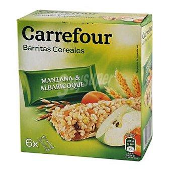 Carrefour Barritas de cereales con manzana y albaricoque 150 g