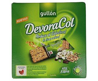 Gullón Galletas de fibra Pack de 6 unidades de 40 gramos