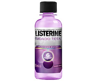 Listerine Enjuague bucal Cuidado Total sabor menta Frasco 95 ml