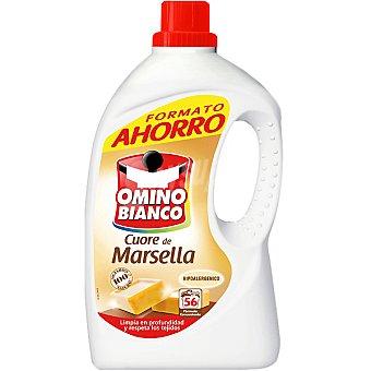 Omino Bianco Detergente máquina líquido al jabón de Marsella botella 56 dosis formato ahorro Botella 56 dosis
