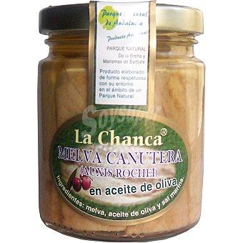 LA CHANCA Melva canutera en aceite de oliva Tarro 150 g neto escurrido