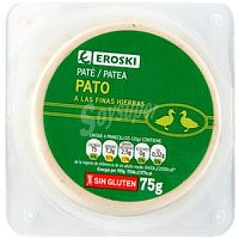 Eroski Paté de pato a las finas hierbas 75 g