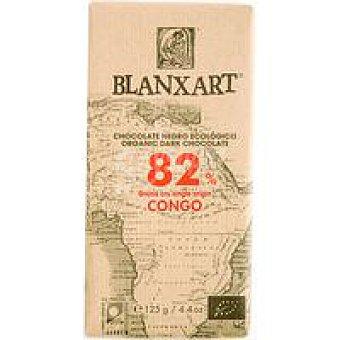 BLANXART Chocolate negro 82% congo ecológico 1 u