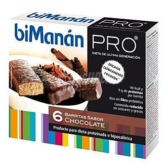 Bimanan Barritas de sabor chocolate 162 g