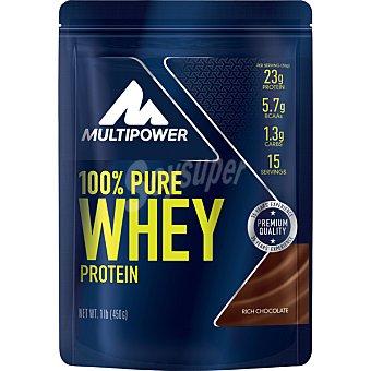 Multipower 100% Pure Whey complejo de proteínas de alta calidad en polvo crecimiento muscular sabor chocolate Bolsa 450 g