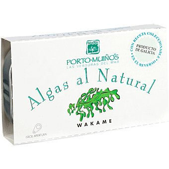 Porto Muiños Algas al natural wakame Lata 70 g neto escurrido