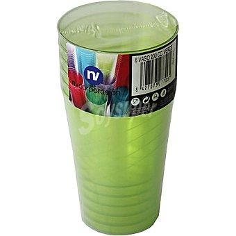 NV CORPORACION Vaso verde paquete 6 unidades 200 cc