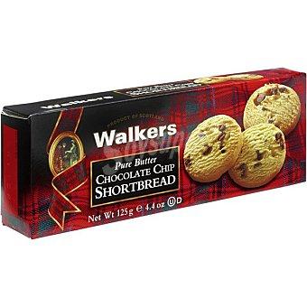 WALKERS Shortbread Galletas de mantequilla con chips de chocolate Estuche 125 g