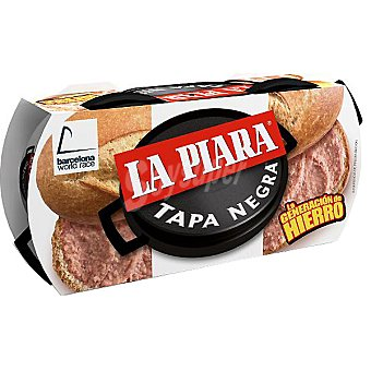 La Piara Paté tapa negra de hígado de cerdo  Pack de 2x115 g