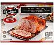 Pollo semideshuesado y asado al horno, relleno de huevo, jamón serrano y dátiles 1,5 kg La Carloteña