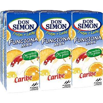 Don Simón Leche y Frutas Caribe Funciona Max Pack 6 Unidades de 200 Mililitros