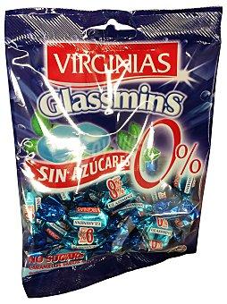 Virginias Caramelo sin azúcar refrescol menta azul Paquete de 70 g