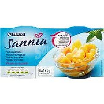Eroski Sannia Frutas variadas sin azúcar Pack 2x115 g