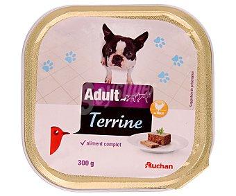 Auchan Comida Húmeda para Perro, Paté de Pollo Tarrina de 300 Gramos