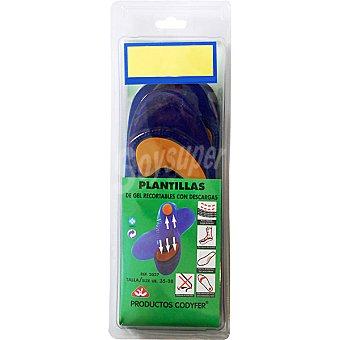 CODYFER Plantillas de gel recortables con descargas talla 35-38
