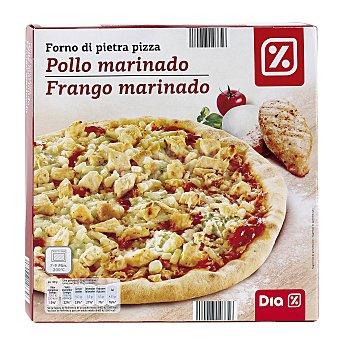 DIA Pizza de pollo marinado Envase 350 gr
