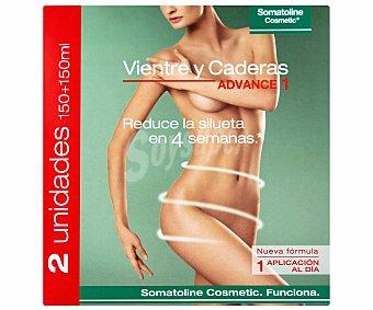Somatoline Cosmetic Gel reductor para vientre y caderas advance 1 300 miliiltros