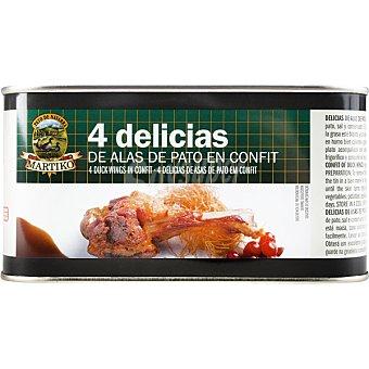 Martiko Delicias de alas de pato en confit lata 700 g Lata 700 g
