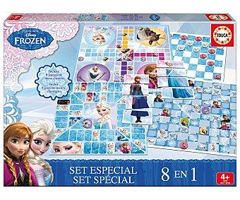 Disney Set de juegos de mesa 8 en 1 de Frozen, +1 jugador 1 unidad