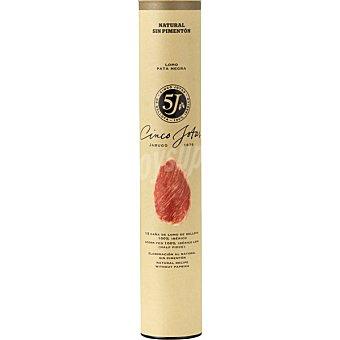 CINCO JOTAS Lomo ibérico puro de bellota de Jabugo  1,2 kg (peso aproximado pieza)