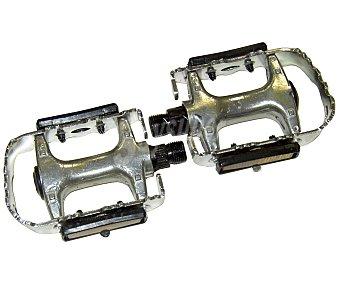 Auchan Lote de 2 pedales fabricados en aluminio, con eje de acero 1 Unidad