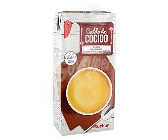 Auchan Caldo de cocido,, brick 1 litro