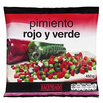Hacendado Pimiento rojo-verde dados congelado Paquete 450 g