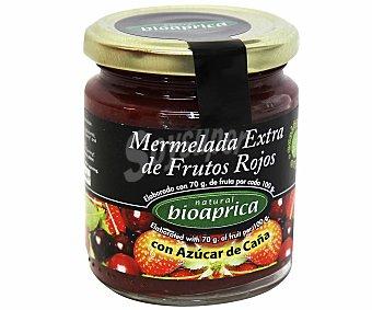 BIOAPRICA Mermelada de frutos rojos con azúcar de caña ecológica 275 gramos