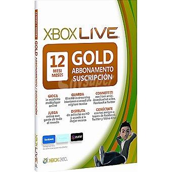 XBOX 360 Tarjeta Gold 12 meses Xbox Live 1 unidad